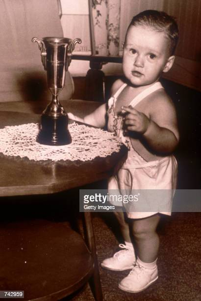 Portrait of Bill Clinton as a baby at about 18 months of age in 1948