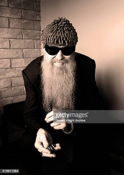 Portrait of Billy Gibbons of ZZ Top Las Vegas Nevada 13th August 2012