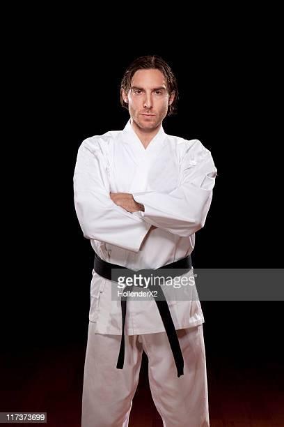 Portrait of black belt in Karate