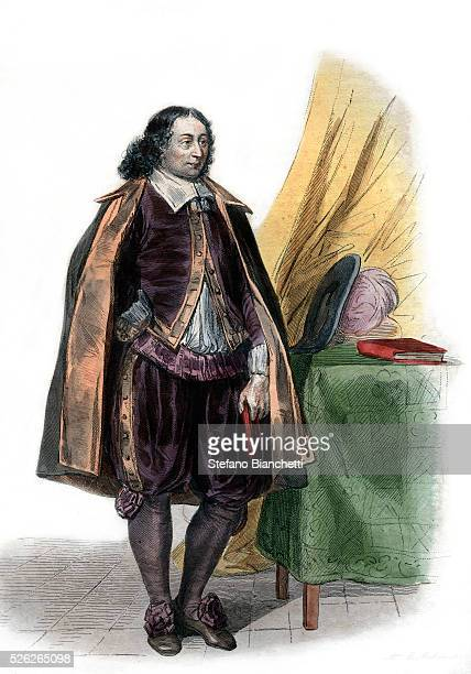 Portrait of Blaise Pascal French mathematician and writer Illustration from 'Le Plutarque Francais' by Edmond Mennechet 1836 �� Stefano...