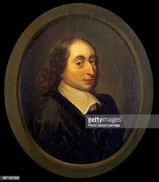 Portrait of Blaise Pascal French physicist mathematician and writer Anonymous painting MagnylesHameaux musee de PortRoyal des Champs France