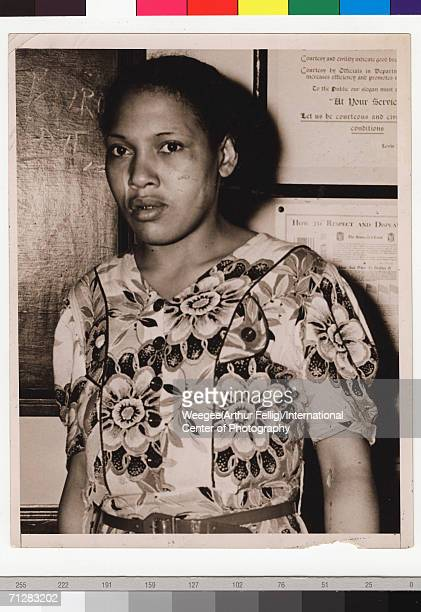 Portrait of Blanche Simms who killed a white fireman in Harlem New York New York 1938 Photo by Weegee / International Center of Photography / Getty...
