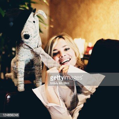 Portrait of blond girl : Stock Photo