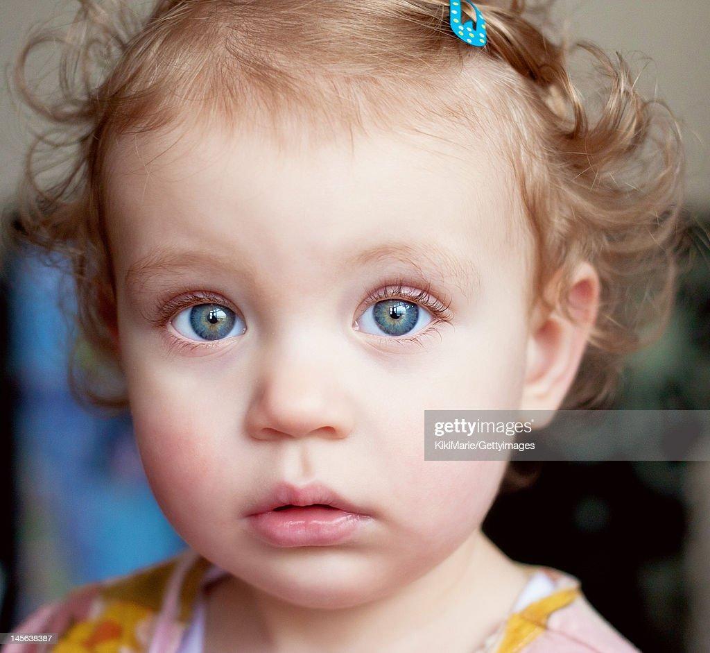 Portrait of blue eyed girl : Stock Photo