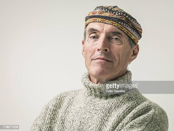 Portrait of bohemian elderly male