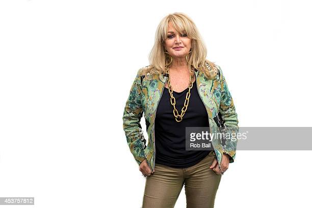 Portrait of Bonnie Tyler at Rewind South 80s Music Festival at Temple Island Meadows on August 17 2014 in HenleyonThames United Kingdom