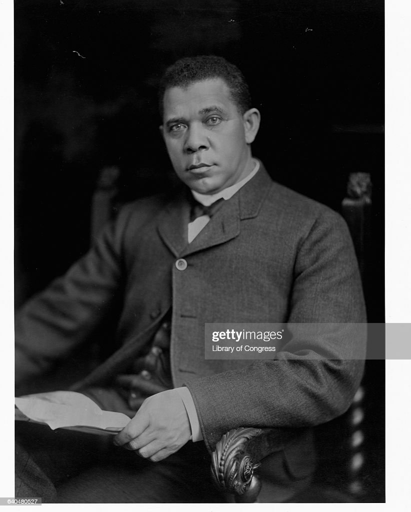 A portrait of Booker T Washington taken just after the publication of his autobiography Up from Slavery