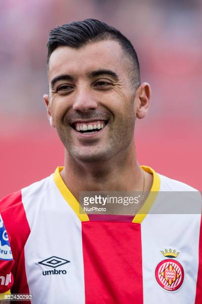 Portrait of Borja Garcia from Spain of Girona FC during the Costa Brava Trophy match between Girona FC and Manchester City at Estadi de Montilivi on...