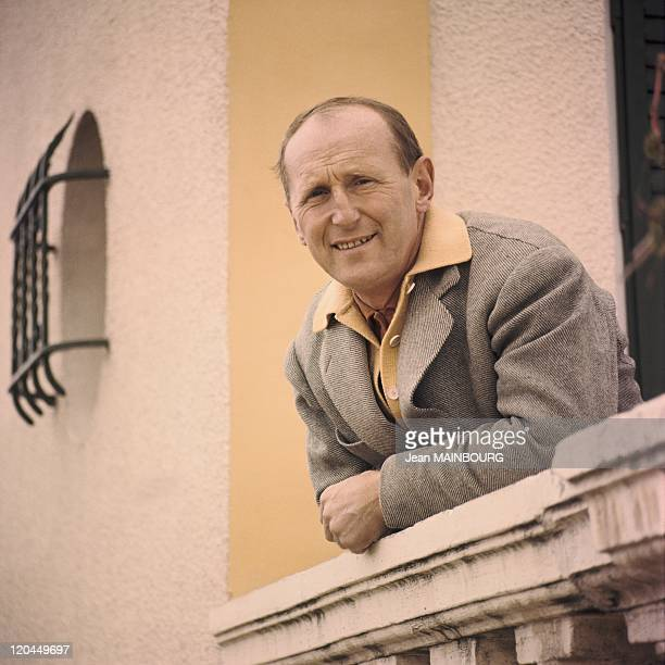 Portrait of Bourvil at balcony in the 1960s