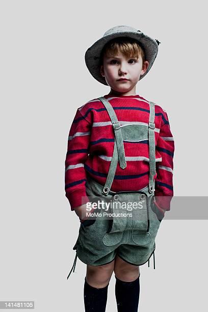portrait of boy - 6yrs in lederhosen