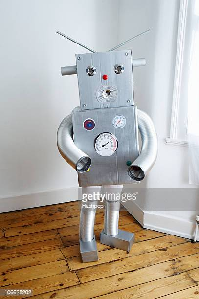 Portrait of boy dressed as a robot