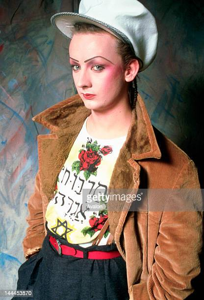 Portrait of Boy George photographed in the late 1980's