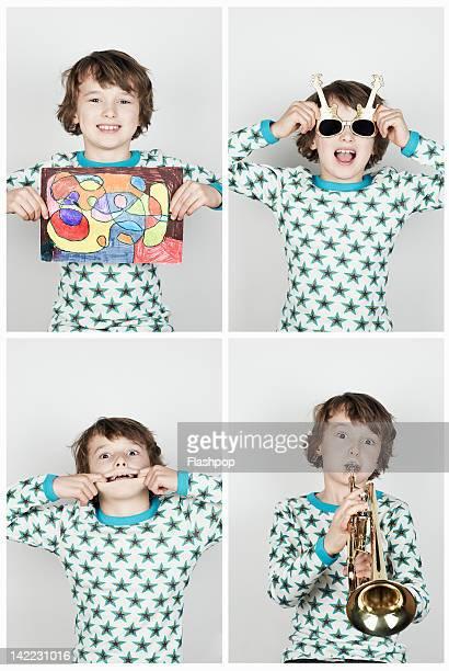 Portrait of boy having fun