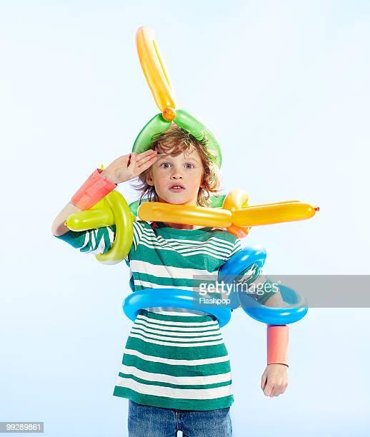 Portrait of boy in fancy dress