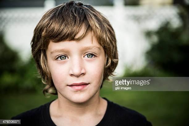 Portrait of boy outdoors