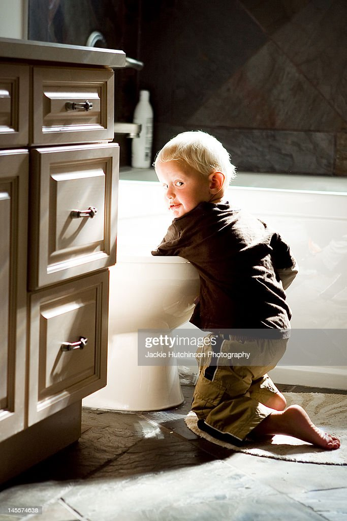 Portrait of boy playing : Stock Photo