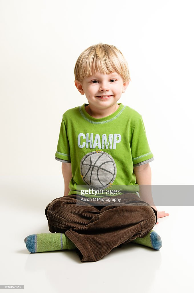 Portrait of boy smiling : Stock Photo