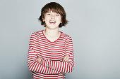 Portrait of boy smiling