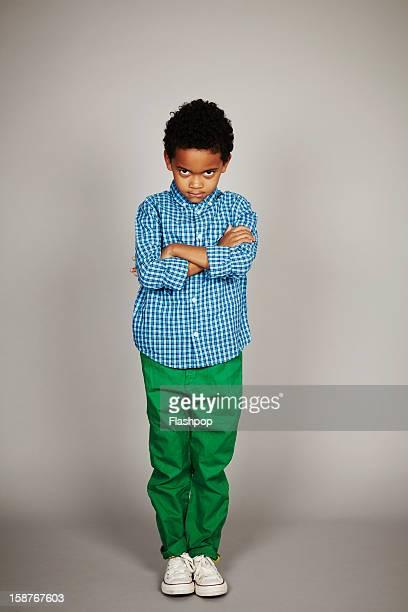 Portrait of boy sulking