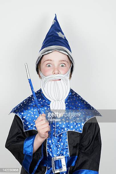 Portrait of boy wearing fancy dress