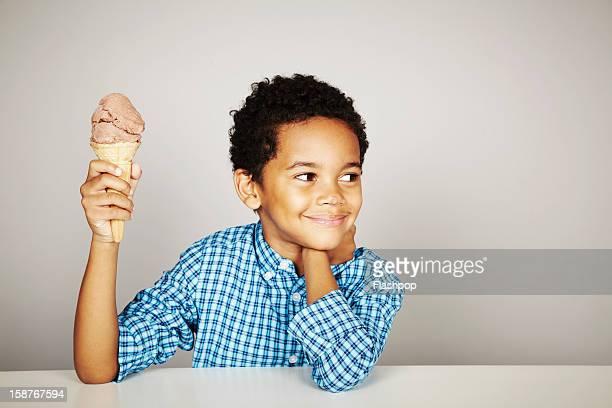 Portrait of boy with ice-cream