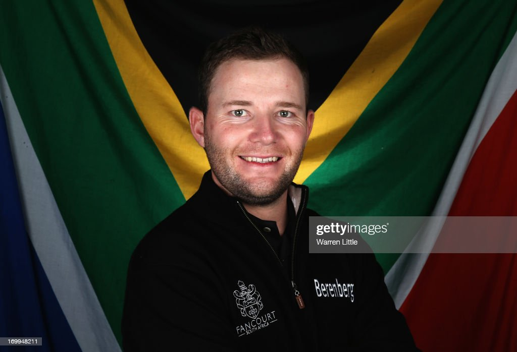 A portrait of <a gi-track='captionPersonalityLinkClicked' href=/galleries/search?phrase=Branden+Grace&family=editorial&specificpeople=4816558 ng-click='$event.stopPropagation()'>Branden Grace</a> of South Africa ahead of the BMW PGA Championship at Wentworth on May 21, 2013 in Virginia Water, England.