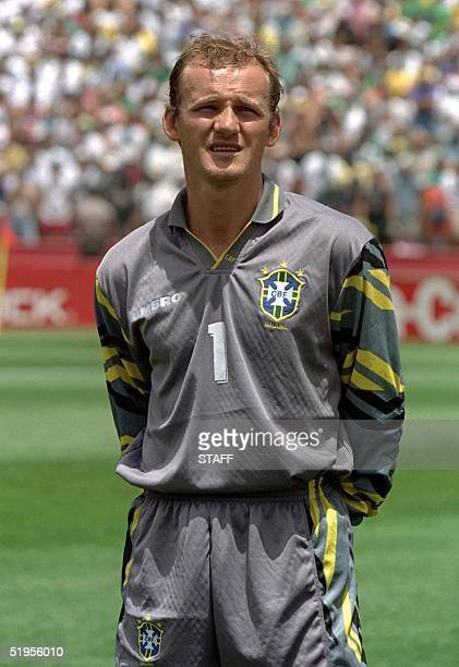 Portrait of Brazilian goalkeeper Claudio Taffarel taken 24 June 1994 in Stanford before the World Cup first round soccer match between Brazil and...