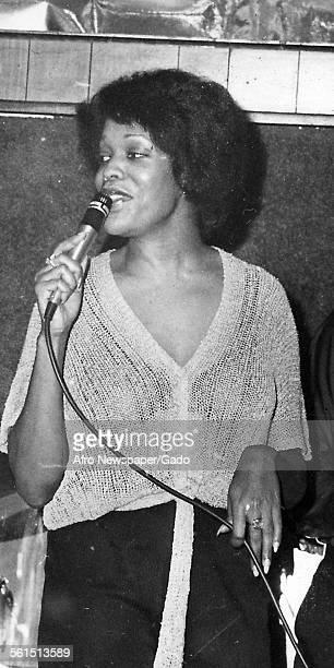 Portrait of Brenda Alford jazz vocalist from Baltimore 1995