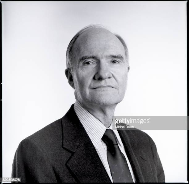 Portrait of Brent Scowcroft in the offices of a midtown law firm New York City New York February 4th 1988 He was the US National Security Advisor for...