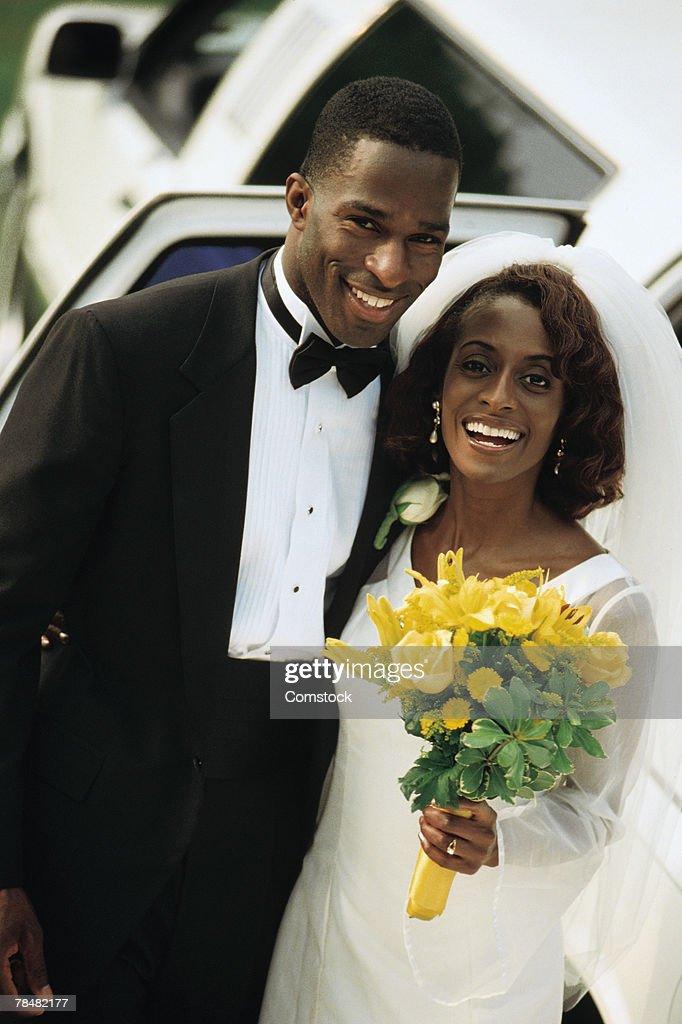 Portrait of bride and groom : Stock Photo