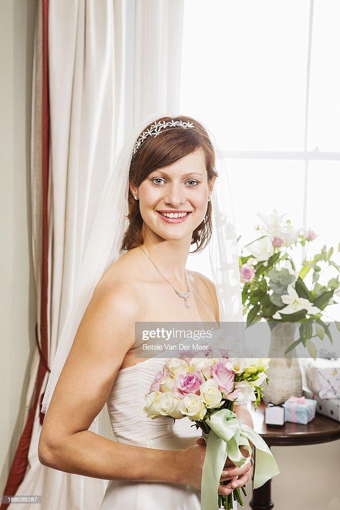 Portrait of bride. : Stock Photo
