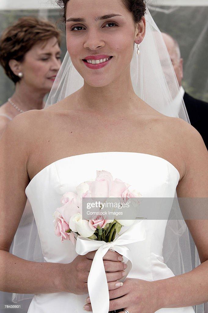 Portrait of bride : Stock Photo