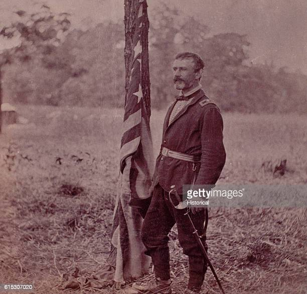 Portrait of Brigadier General Andrew Atkinson Humphreys Chief Topographical Engineer for the Army of the Potomac in June 1862