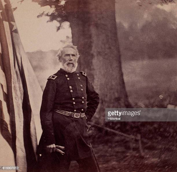 Portrait of Brigadier General Edwin Vose Sumner a Union officer during the American Civil War