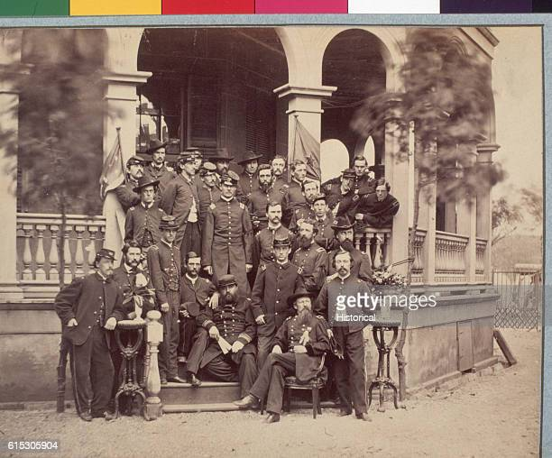 Portrait of Brigadier General John Hatch and his staff Hatch was put in charge of the Federal troops occupying Charleston South Carolina once that...