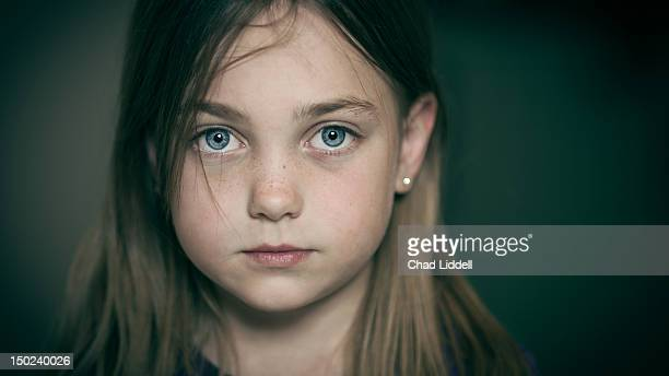 Portrait of bright eyed young girl