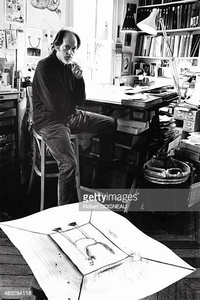 Portrait of British artist and satirical cartoonist Ronald Searle