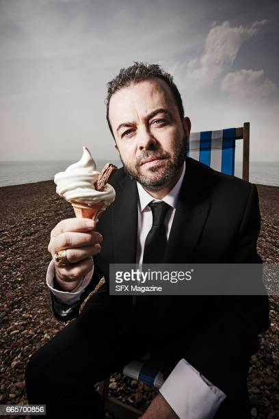 Portrait of British author and screenwriter Jason Arnopp photographed at Brighton seafront on May 27 2016