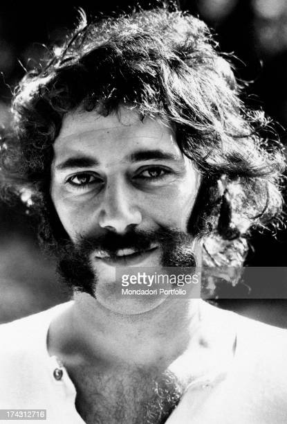 Portrait of British bassist Mike Cole of Mungo Jerry Venice 1970