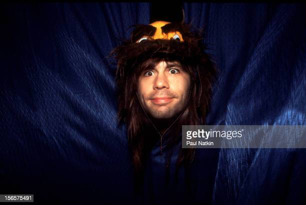 Portrait of British heavy metal band Iron Maiden backstage at the UIC Pavillion during their World Piece Tour Chicago Illinois September 30 1983...