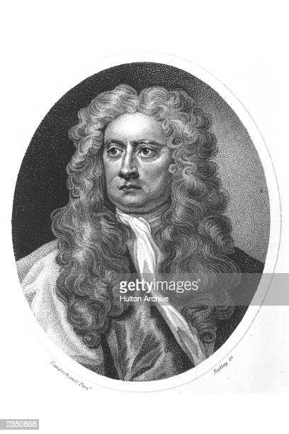 Portrait of British mathematician and physicist Sir Isaac Newton 17th Century Newton invented both integral and differential calculus and discovered...