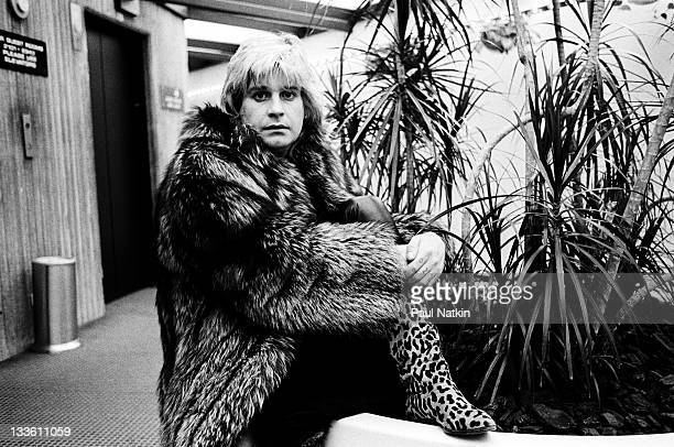 Portrait of British musician Ozzy Osbourne as he poses before a concert at the Rosemont HorizonRosemont Illinois March 4 1984