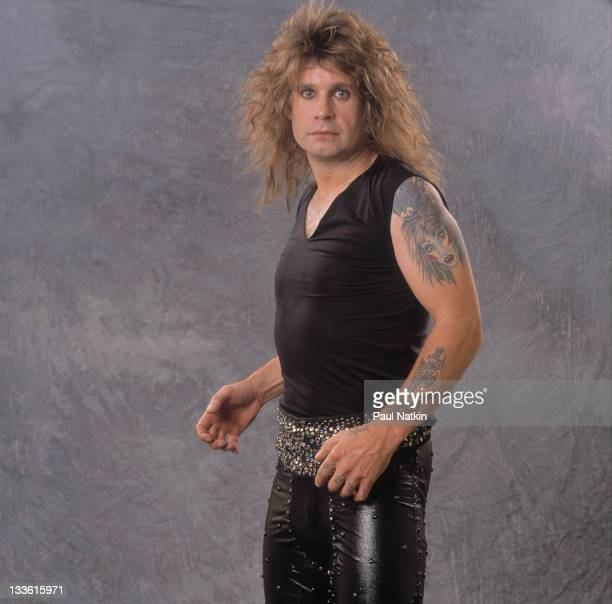 Portrait of British musician Ozzy Osbourne before a performance at the Poplar Creek Music Theater in Hoffman Estates Chicago Illinois July 12 1989