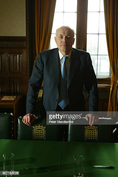 Portrait of British politician Iain Duncan Smith as he poses in Parliament London England January 29 2003