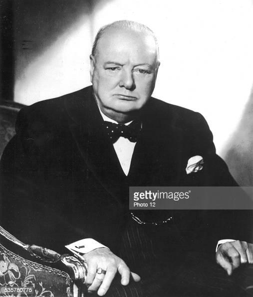 Portrait of British Prime minister Winston Churchill Great Britain