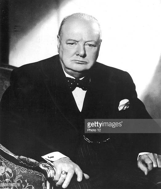 Portrait of British Prime minister Winston Churchill Great Britain