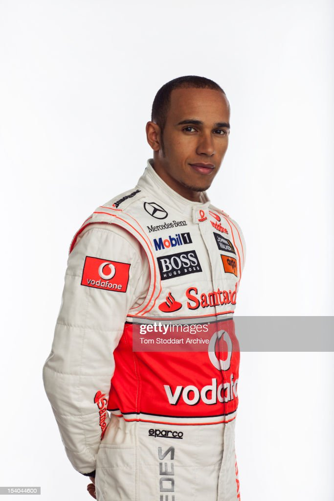 A portrait of British racing driver <a gi-track='captionPersonalityLinkClicked' href=/galleries/search?phrase=Lewis+Hamilton+-+Racecar+Driver&family=editorial&specificpeople=586983 ng-click='$event.stopPropagation()'>Lewis Hamilton</a>. Hamilton began his career racing go-karts on tracks near his home in Stevenage, Hertfordshire. Aged ten, Hamilton famously approached McLaren team principal Ron Dennis at the Autosport Awards ceremony and told him, 'I want to race for you one day ... I want to race for McLaren.' 12 years later in 2007 he made his Formula One debut for McClaren finishing second in the F1 World Championship behind Kimi Raikkonen.