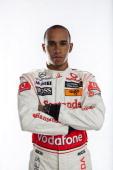 A portrait of British racing driver Lewis Hamilton Hamilton began his career racing gokarts on tracks near his home in Stevenage Hertfordshire Aged...