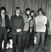 Portrait of British rock group the Rolling Stones 1964 Pictured are from left Bill Wyman Brian Jones Keith Richards Charlie Watts and Mick Jagger