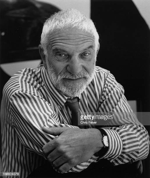Portrait of British sculptor Anthony Caro New York New York 1991